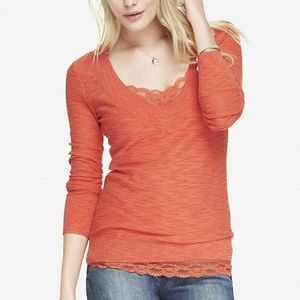 **NWOT Express V Neck Fitted Sweater Long Sleeve